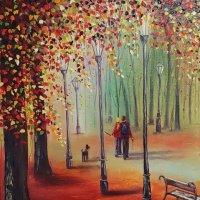Autumn woodwalk SOLD