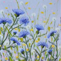 Blue thistle, SOLD