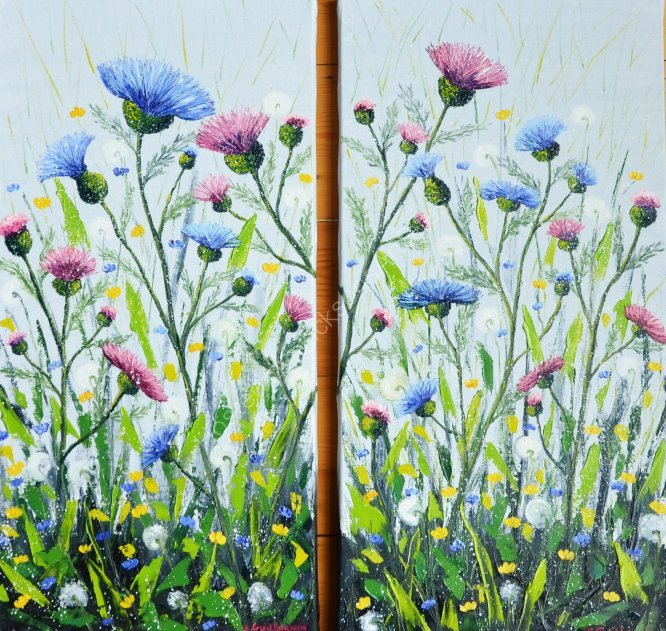 Dyptich thistle, SOLD