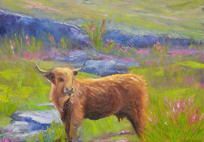 Highland cow £450, available at the studio