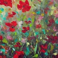 Wild poppies. SOLD