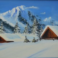 Mountain snow ball, SOLD