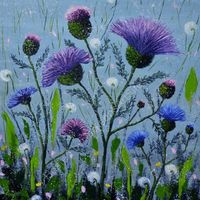 Thistle in Dew SOLD