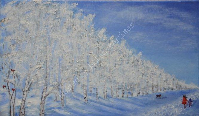 Winter walk, SOLD