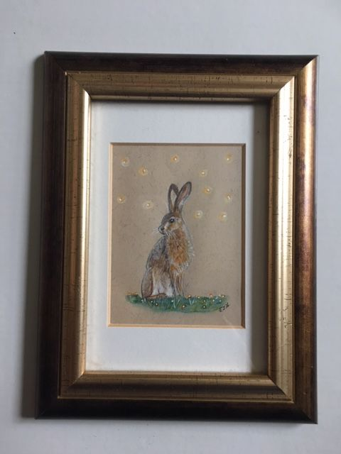 Framed Hare Drawing