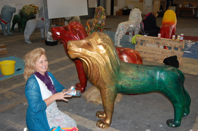 Touching Up The Lions