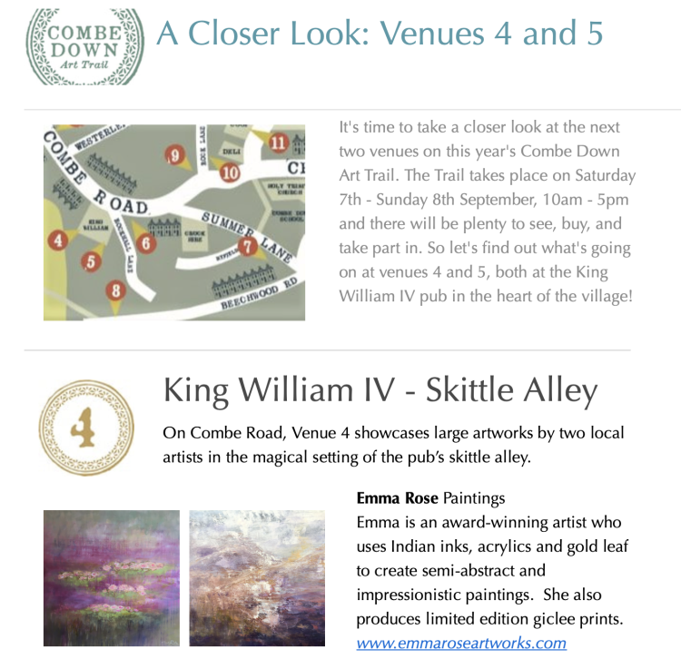 Combe Down Art Trail Sept 19