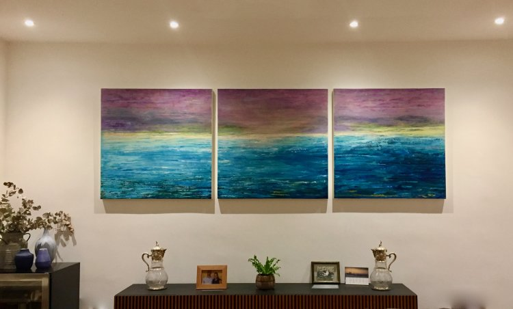 Triptych up in Chiswick