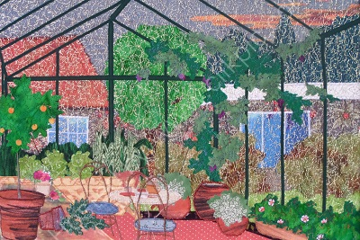Evening in the greenhouse