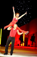 Bonnie Langford in action in the last Dancing on Ice tour show @ the NIA in Birmingham.