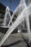 UN Plaza fountains in San Francisco.