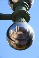 Reflection of Union Square, San Francisco.