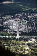 Aerial view of Banff.