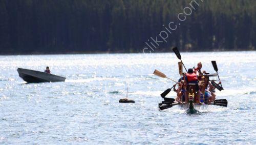 Dragon boat racing on Lake Minnewanke.