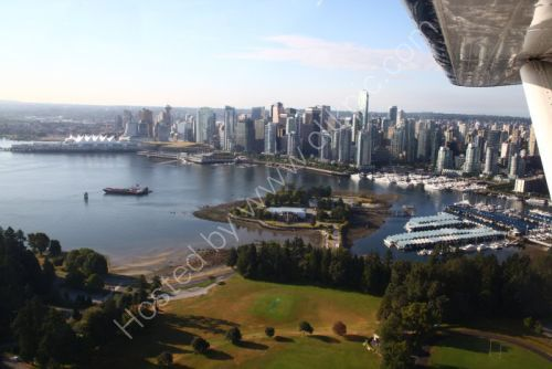 Vancouver harbour from a seaplane.