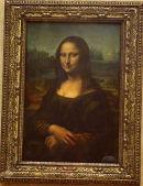 Mona Lisa in the Louvre, Paris.