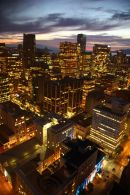 Night time view from the Tower in Vancouver.