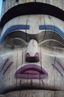 Totem Pole in Whistler, BC, Canada.
