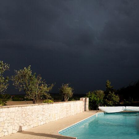 Stormy pool