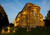 Evening Light Italianate Church, Wilton