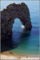 Fun at Durdle Door