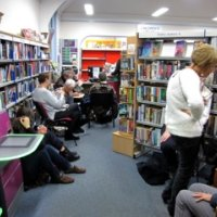 Oundle Library sit-in