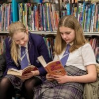 reading at Oundle Library sit-in