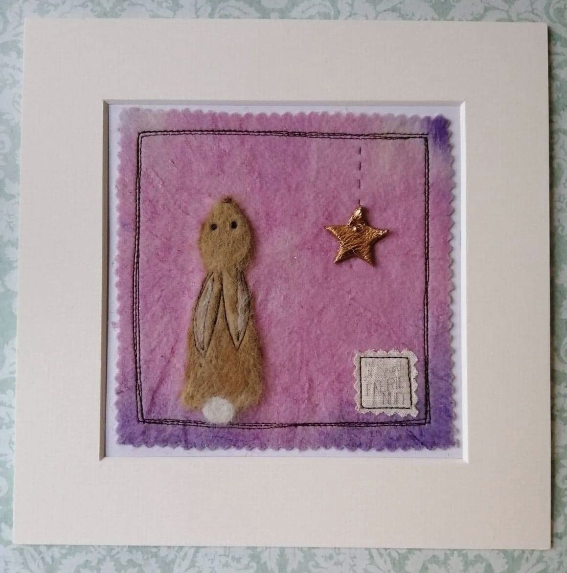 Mixed Media Brown Hare and Star picture