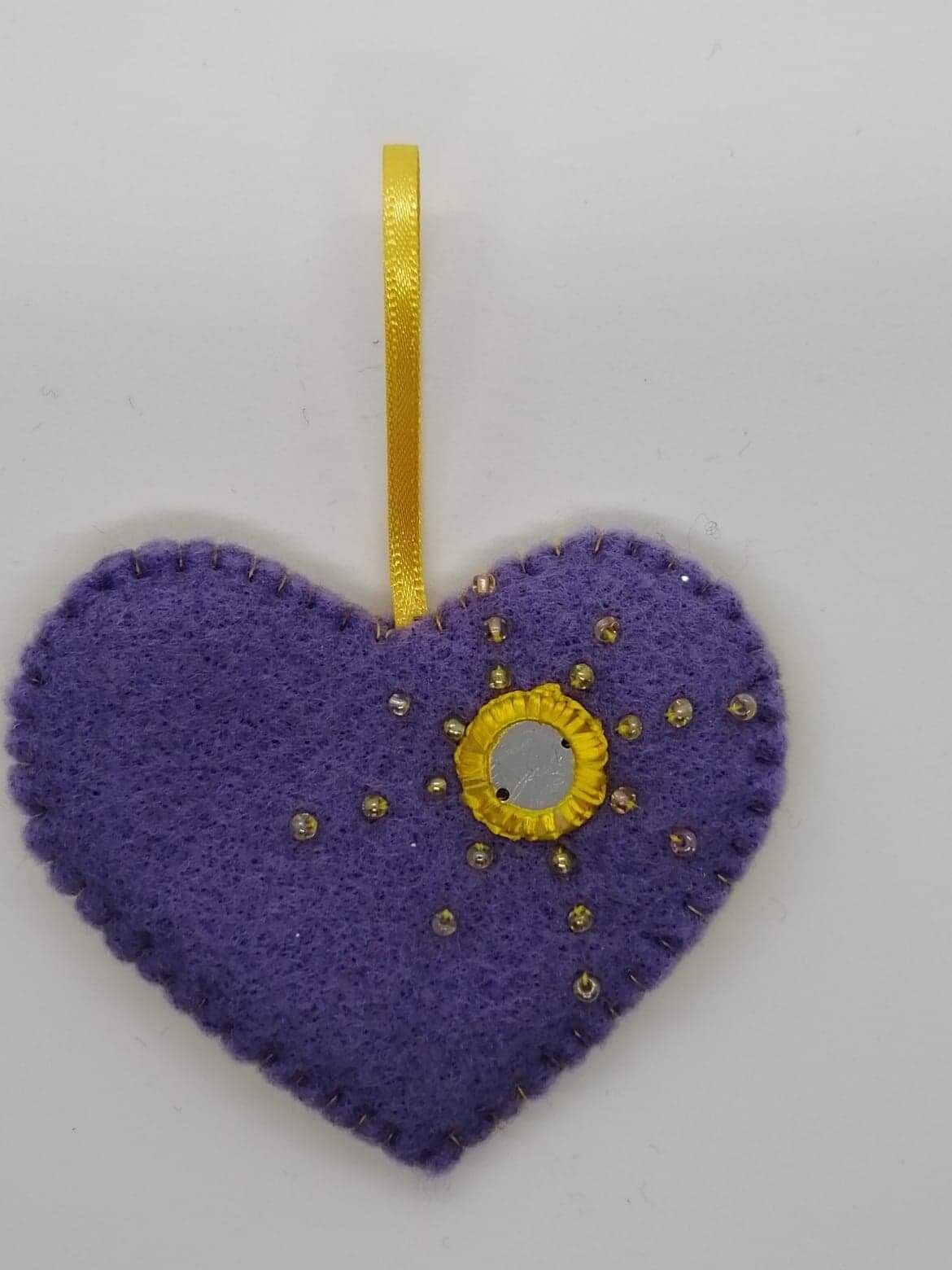 Purple hanging heart