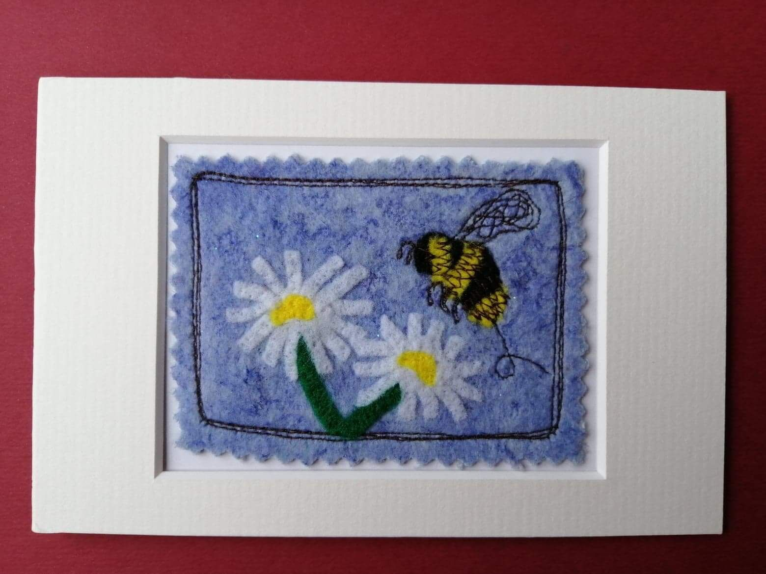Bee and Daisy Mixed Media Picture