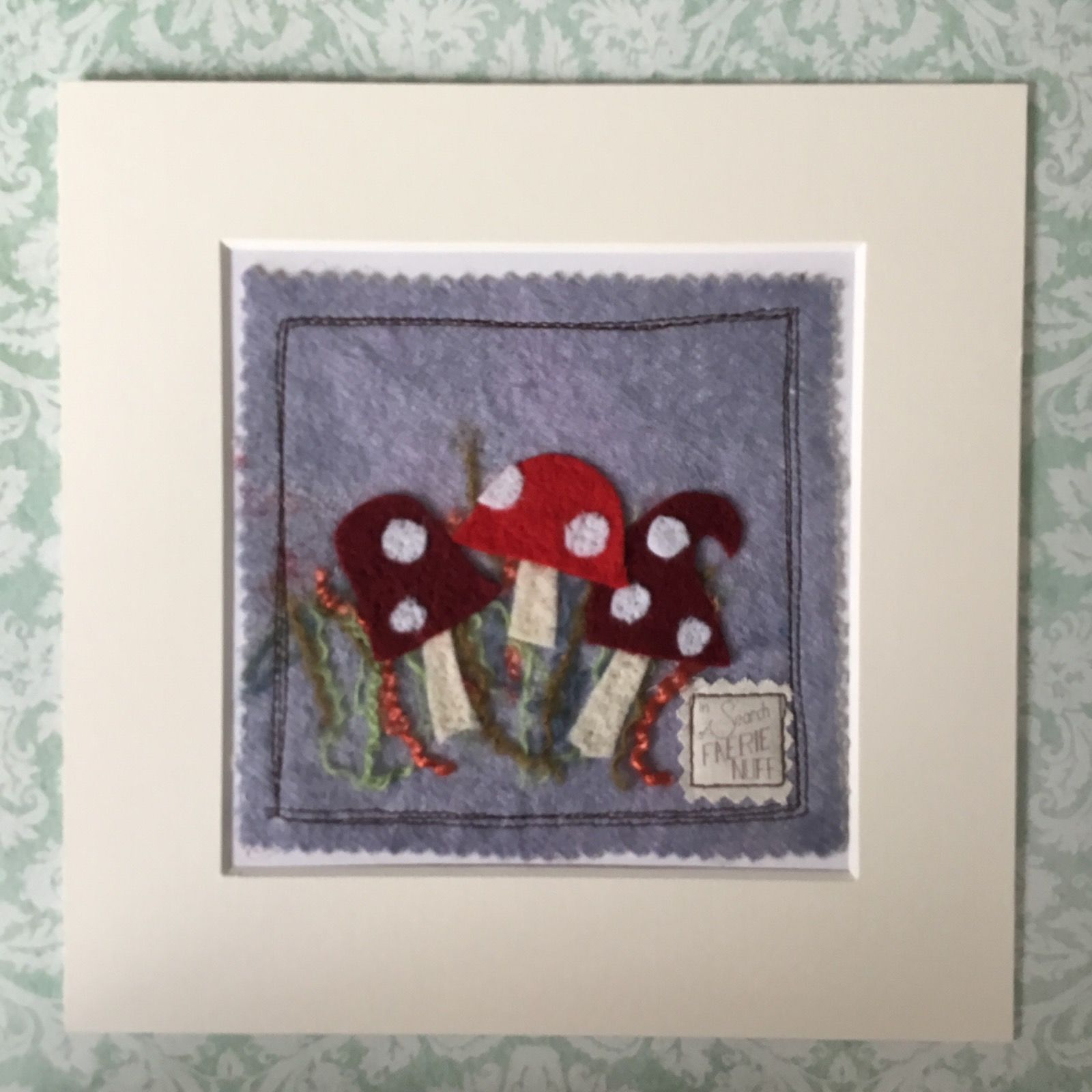 Shades of Red Toadstools Mixed Media Picture