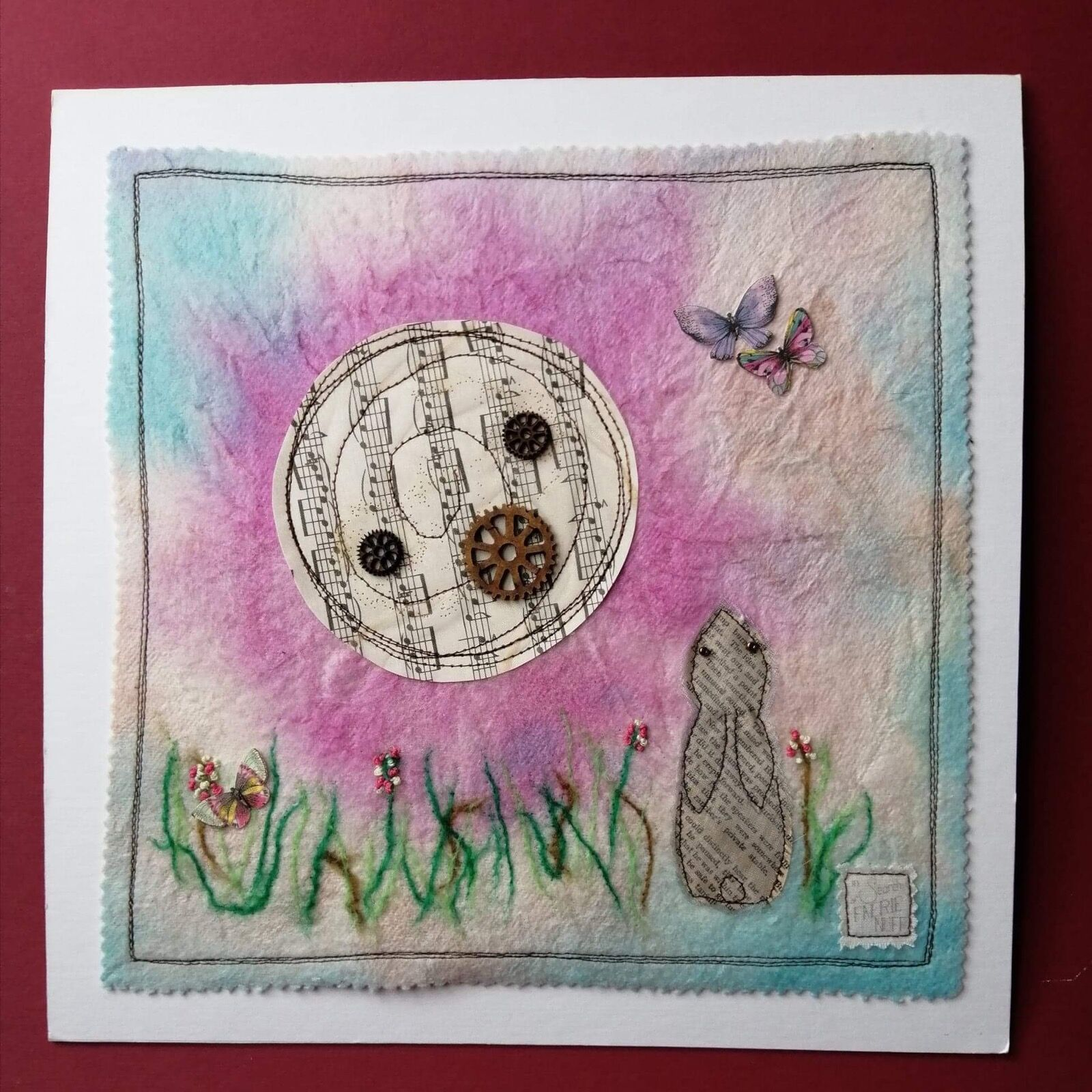 Hare and butterflies picture