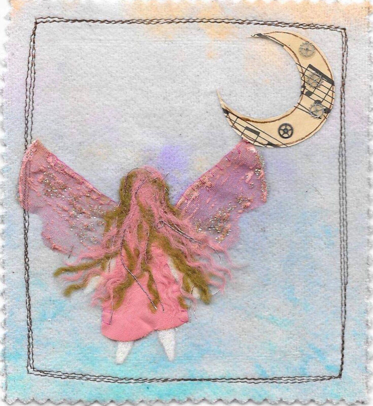 Faerie and moon card