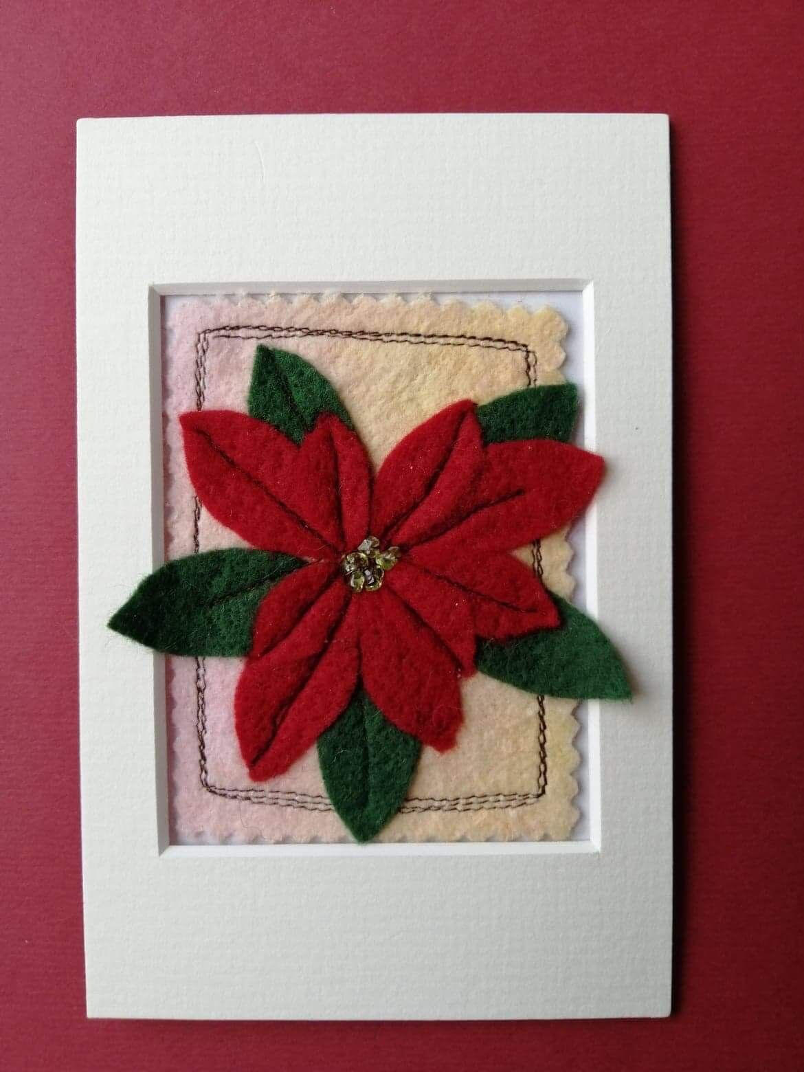 Mixed media Poinsettia