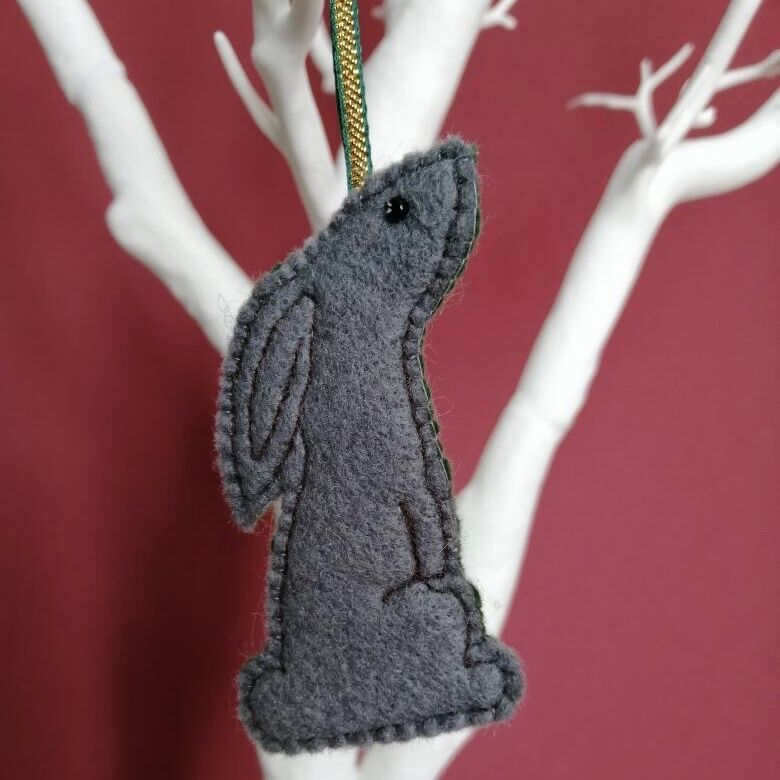 Hanging hare decoration