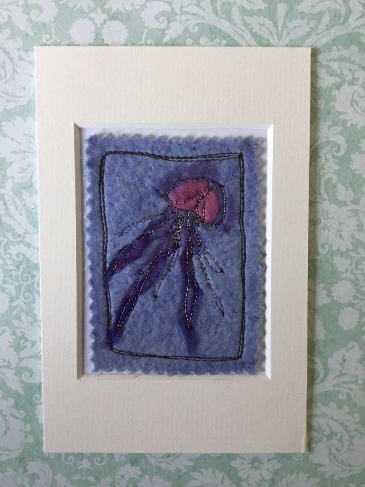 Mixed media Jellyfish ACEO