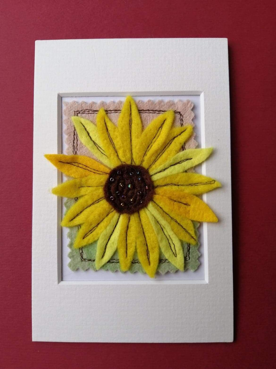 Mixed media sunflower picture