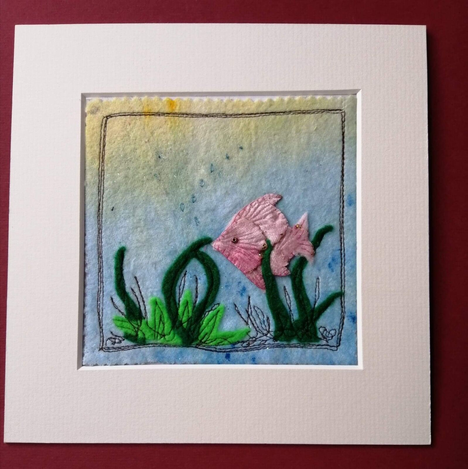 Little mixed media fish picture