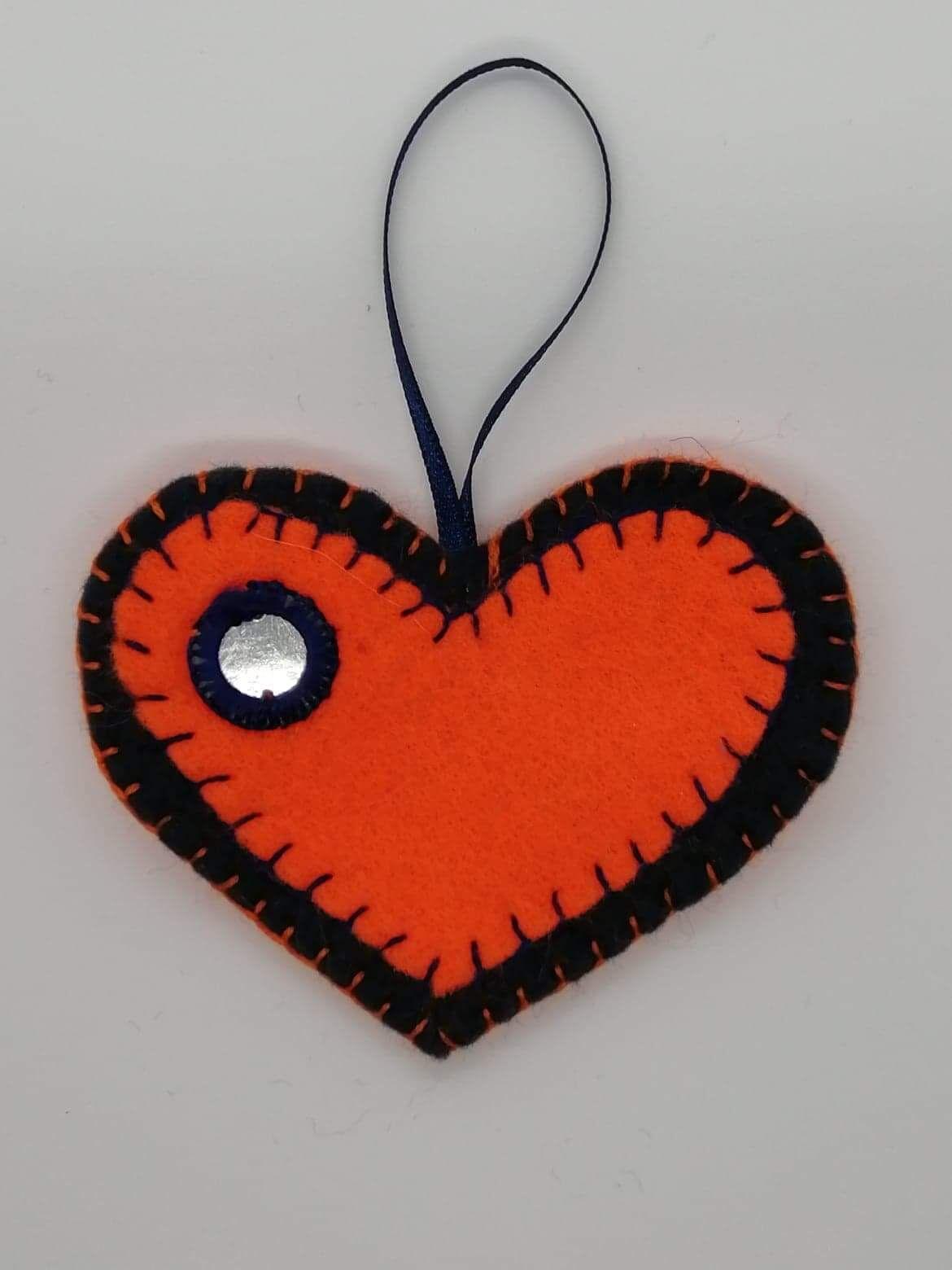 Orange hanging heart