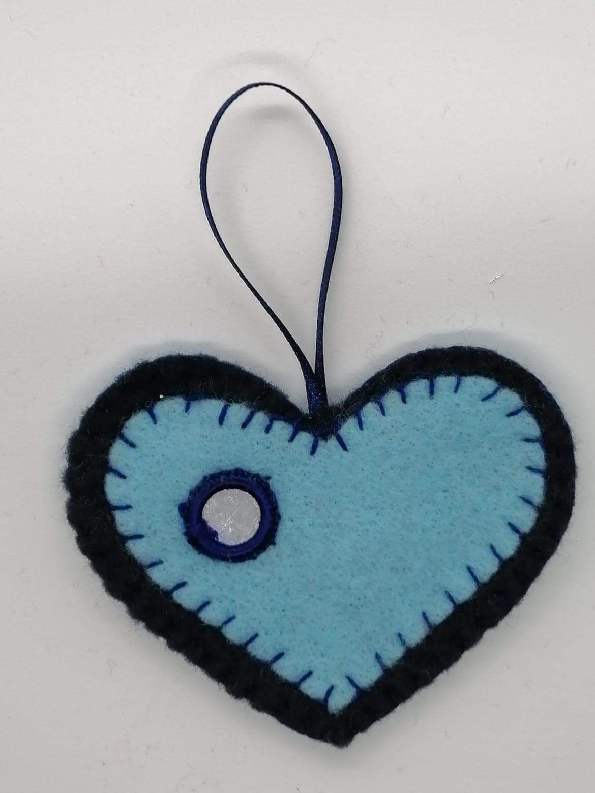 Hanging blue Heart