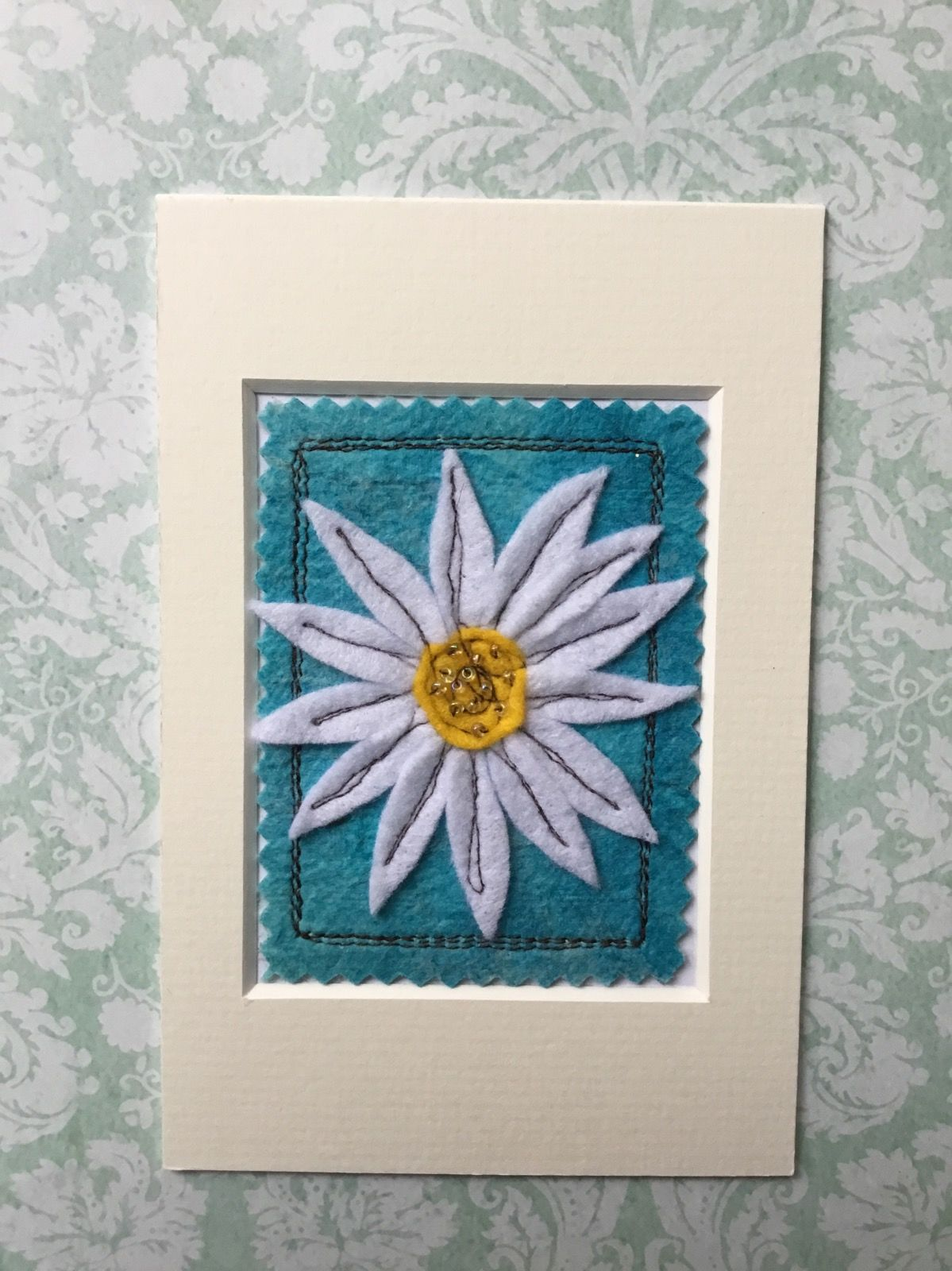 Mixed media Flower ACEO