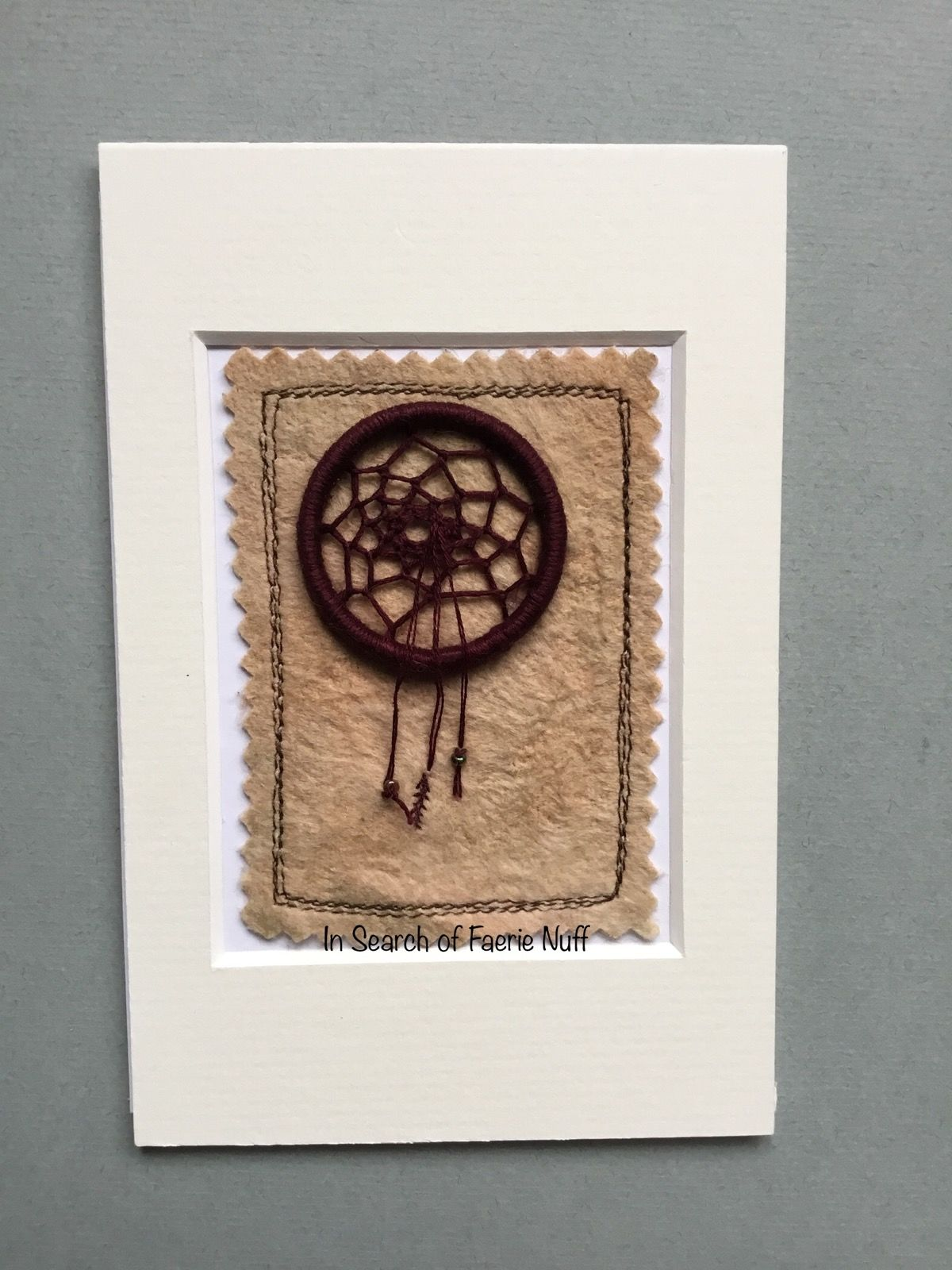 Mixed media Dream catcher ACEO