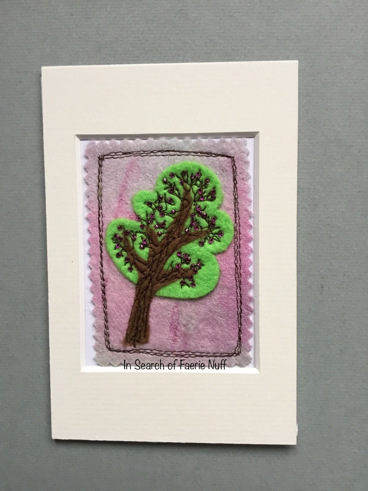 Mixed media tree ACEO