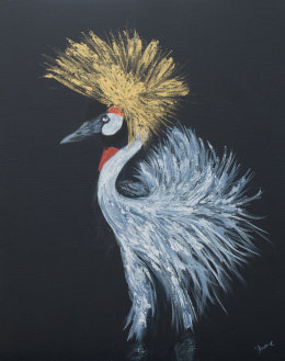 Golden crested crane
