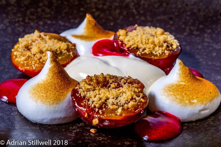 Plums with Italian Meringue