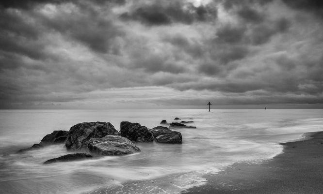 Groynes at low tide