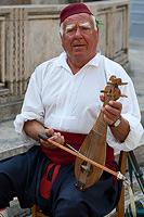 Folk music performer in Dubrovnik