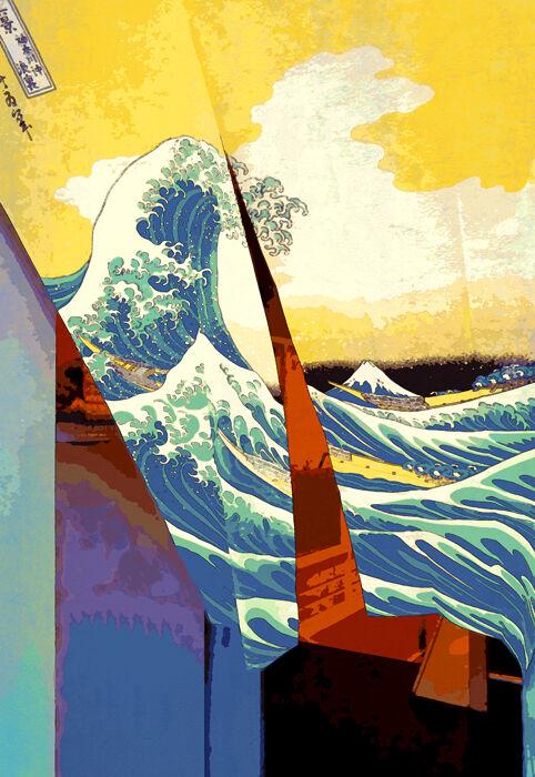 Great Wave Noren