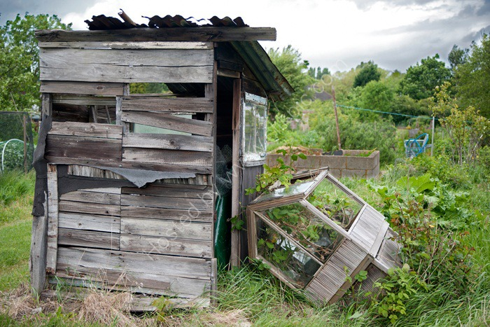Seen better days,  Alric Allotments,  London