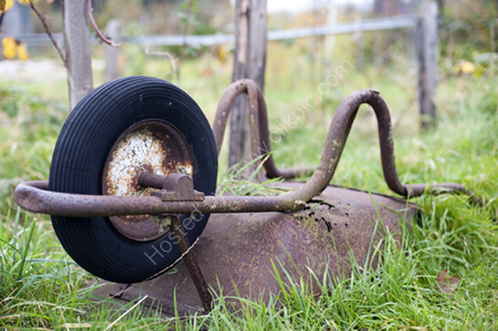 Upside down Wheel barrow,  Alric Allotments,  London